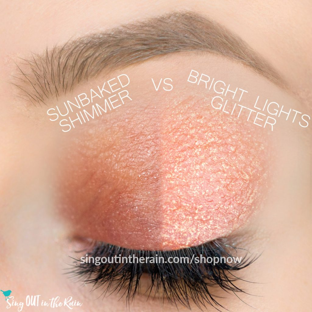 Sunbaked Shimmer ShadowSense, Bright Lights Glitter ShadowSense