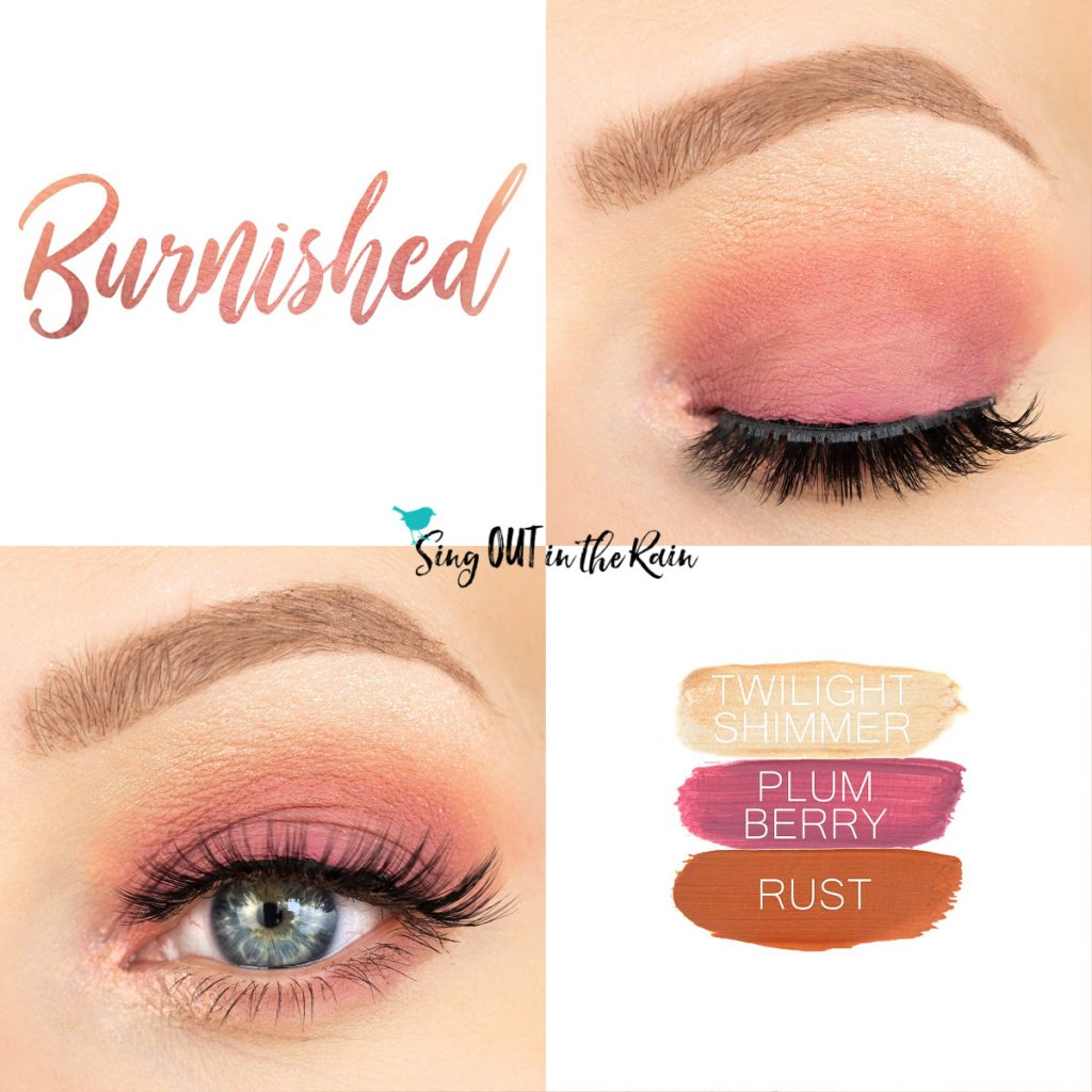 Burnished Eye Trio, Twilight Shimmer ShadowSense, Plum Berry ShadowSense, Rust ShadowSense