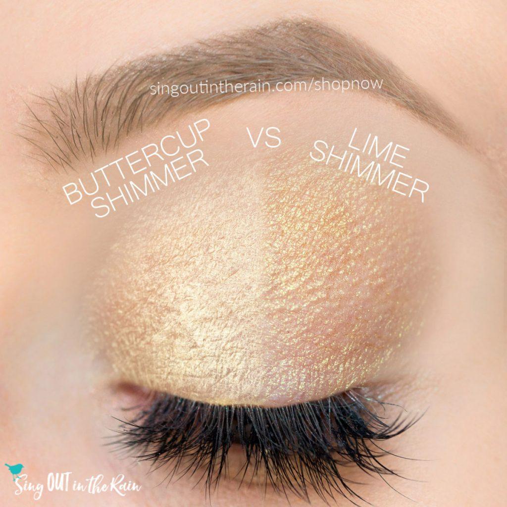 buttercup shimmer shadowsense, lime shimmer shadowsense