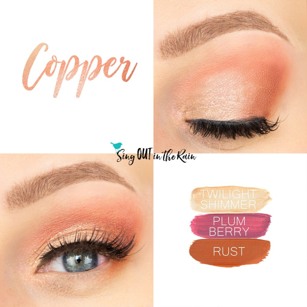Copper Eye Trio, Twilight Shimmer ShadowSense, Plum Berry ShadowSense, Rust ShadowSense