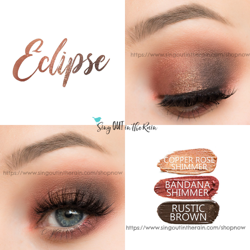 Eclipse Eye Trio, Copper Rose Shimmer ShadowSense, Bandana Shimmer ShadowSense, Rustic Brown ShadowSense