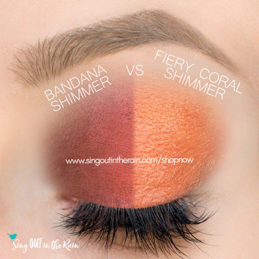 Bandana Shimmer vs. Fiery Coral Shimmer ShadowSense