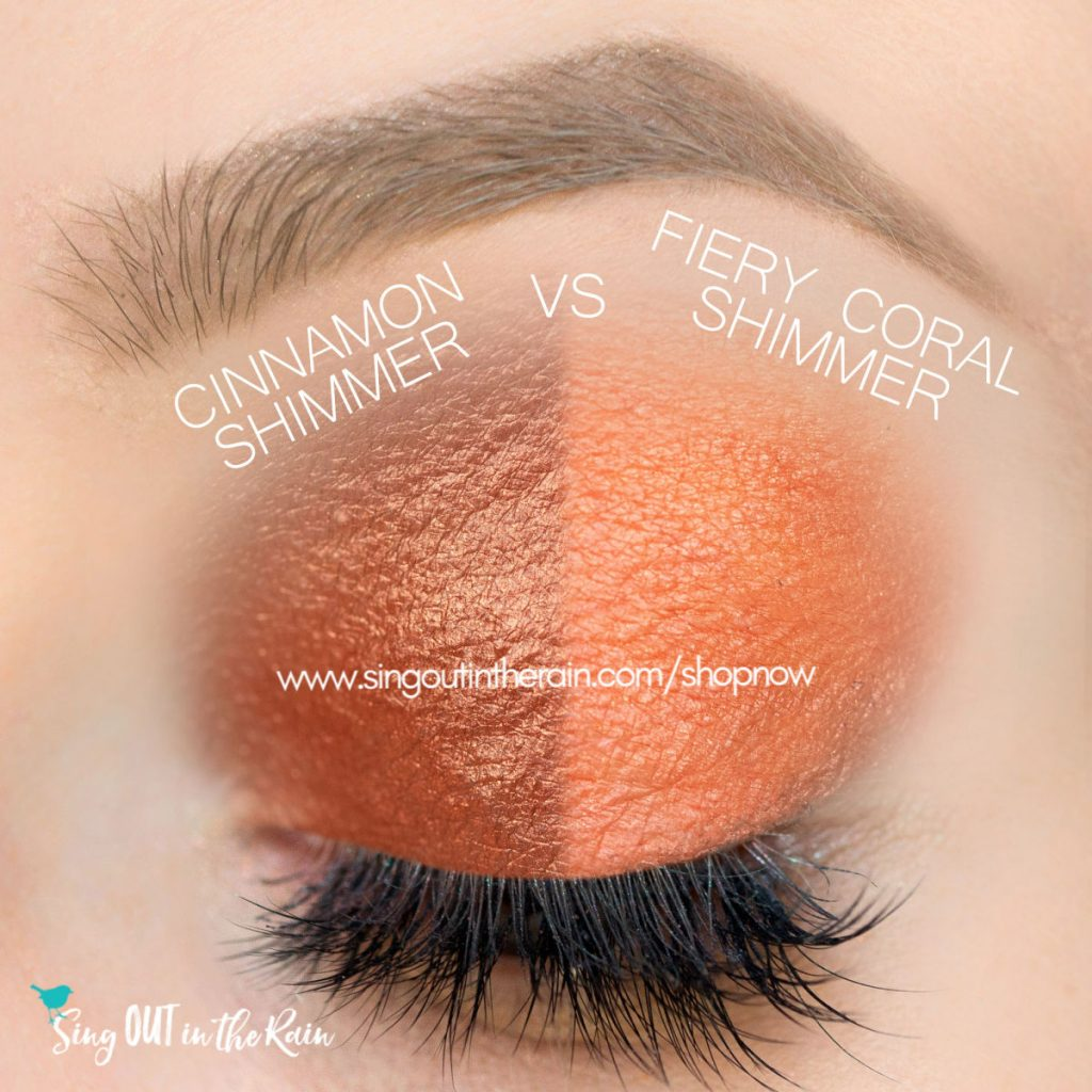 Cinnamon Shimmer vs. Fiery Coral Shimmer ShadowSense