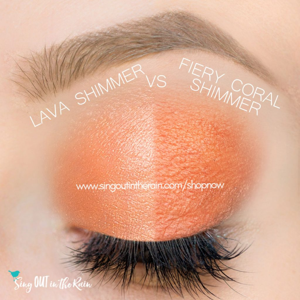 Lava Shimmer vs. Fiery Coral Shimmer ShadowSense