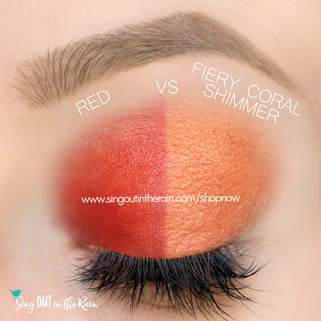 Red vs. Fiery Coral Shimmer ShadowSense