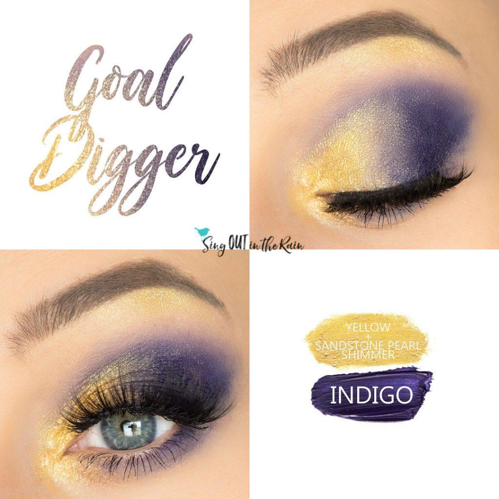 Goal Digger Eye Duo, Indigo ShadowSense, Yellow ShadowSense, Sandstone Pearl Shimmer ShadowSense