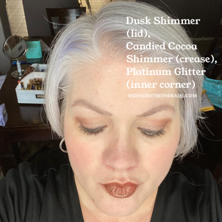 Dusk Shimmer ShadowSense, Candied Cocoa Shimmer ShadowSense, Platinum Glitter ShadowSense