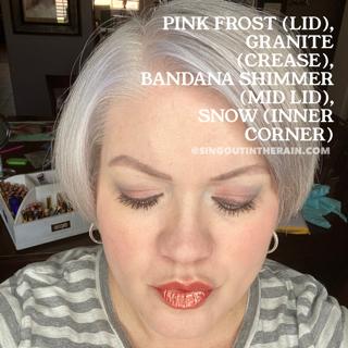 Pink Frost ShadowSense, Granite ShadowSense, Bandana Shimmer ShadowSense, Snow ShadowSense