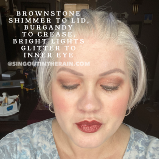 Brownstone Shimmer Shadowsense, Burgandy Shadowsense, Bright Lights Glitter Shadowsense