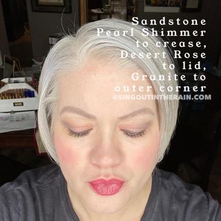 Sandstone pearl shimmer shadowsense, desert rose shadowsense, granite shadowsense