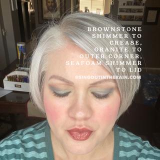 Brownstone shimmer shadowsense, granite shadowsense, seafoam shimmer shadowsense