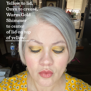 Yellow ShadowSense, Onyx ShadowSense, Warm Gold Shimmer ShadowSense