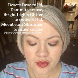 Desert Rose Shadowsense, Denim ShadowSense, Bright Lights Glitter ShadowSense, Moonbeam Shimmer ShadowSense