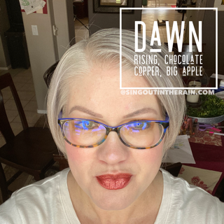 Dawn Rising LipSense, Chocolate Copper LipSense, Big Apple LipSense, LipSense Mixology