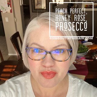 Peach Perfect LipSense, Honey Rose LipSense, Prosecco LipSense, LipSense Mixology