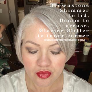 brownstone shimmer shadowsense, denim shadowsense, glacier glitter shadowsense