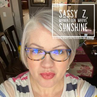 Sassy Z LipSense, Manhatten Mauve LipSense, Sunshine LipSense, LipSense Mixology