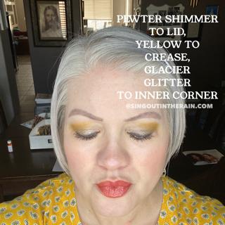 Pewter Shimmer ShadowSense, Yellow ShadowSense, Glacier Glitter ShadowSense
