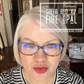 Sheer Red LipSense, LipSense Mixology, Fire Opal LipSense