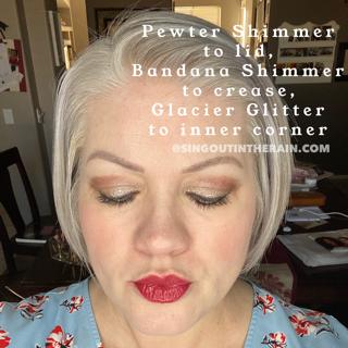 Bandana Shimmer ShadowSense, Pewter Shimmer ShadowSense, Glacier Glitter ShadowSense