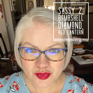 Sassy Z LipSense, Bombshell Diamond LipSense, Red Lantern LipSense, LipSense Mixology