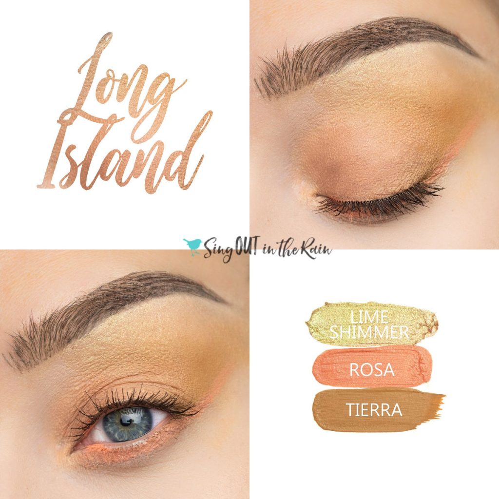 Long Island Eye Trio, Lime Shimmer ShadowSense, Rosa ShadowSense, Tierra ShadowSense