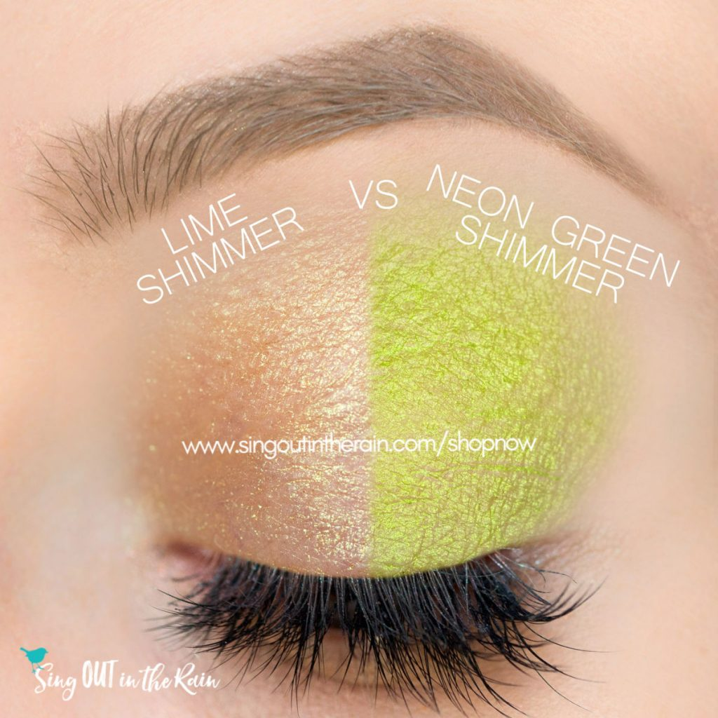 Lime Shimmer ShadowSense, Neon Green ShadowSense