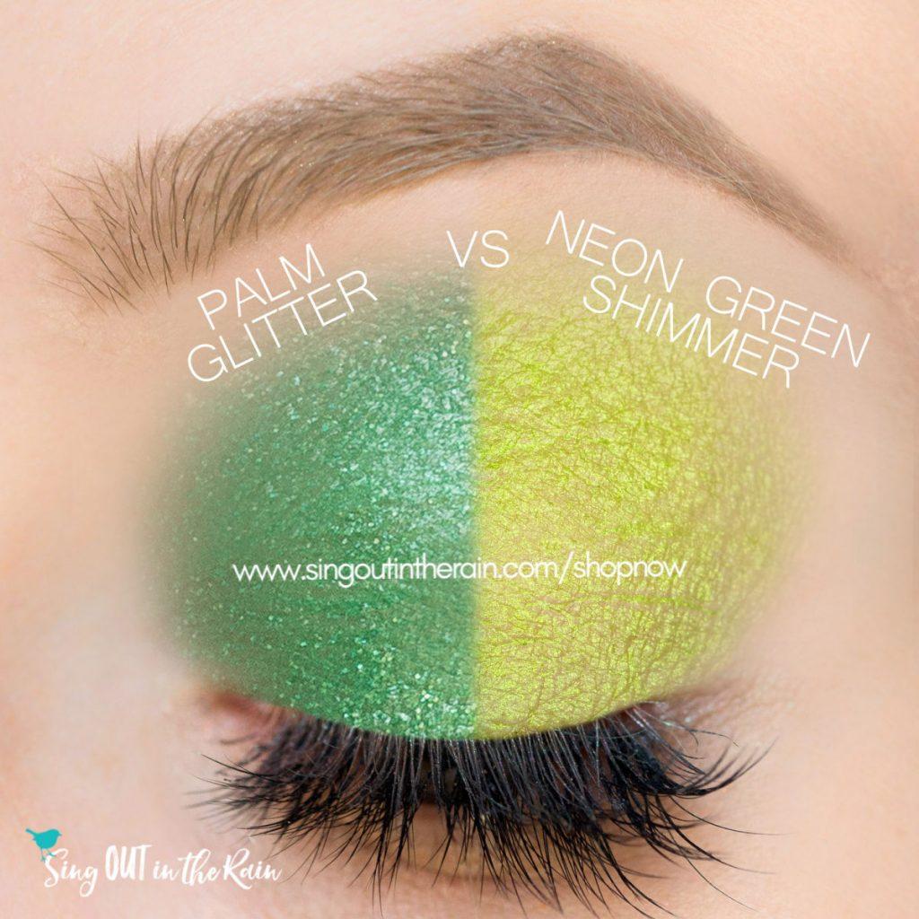 Palm Glitter ShadowSense, Neon Green Shimmer ShadowSense