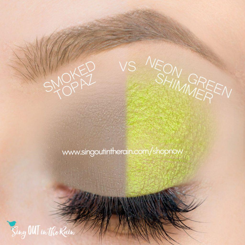 Smoked Topaz ShadowSense, Neon Green Shimmer ShadowSense
