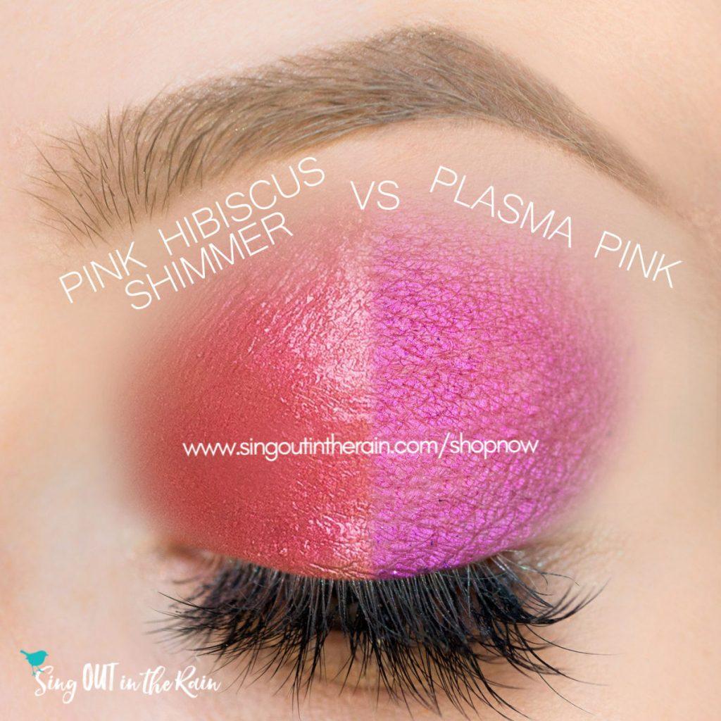 Pink Hibiscus Shimmer ShadowSense, Plasma Pink Shimmer Shadowsense