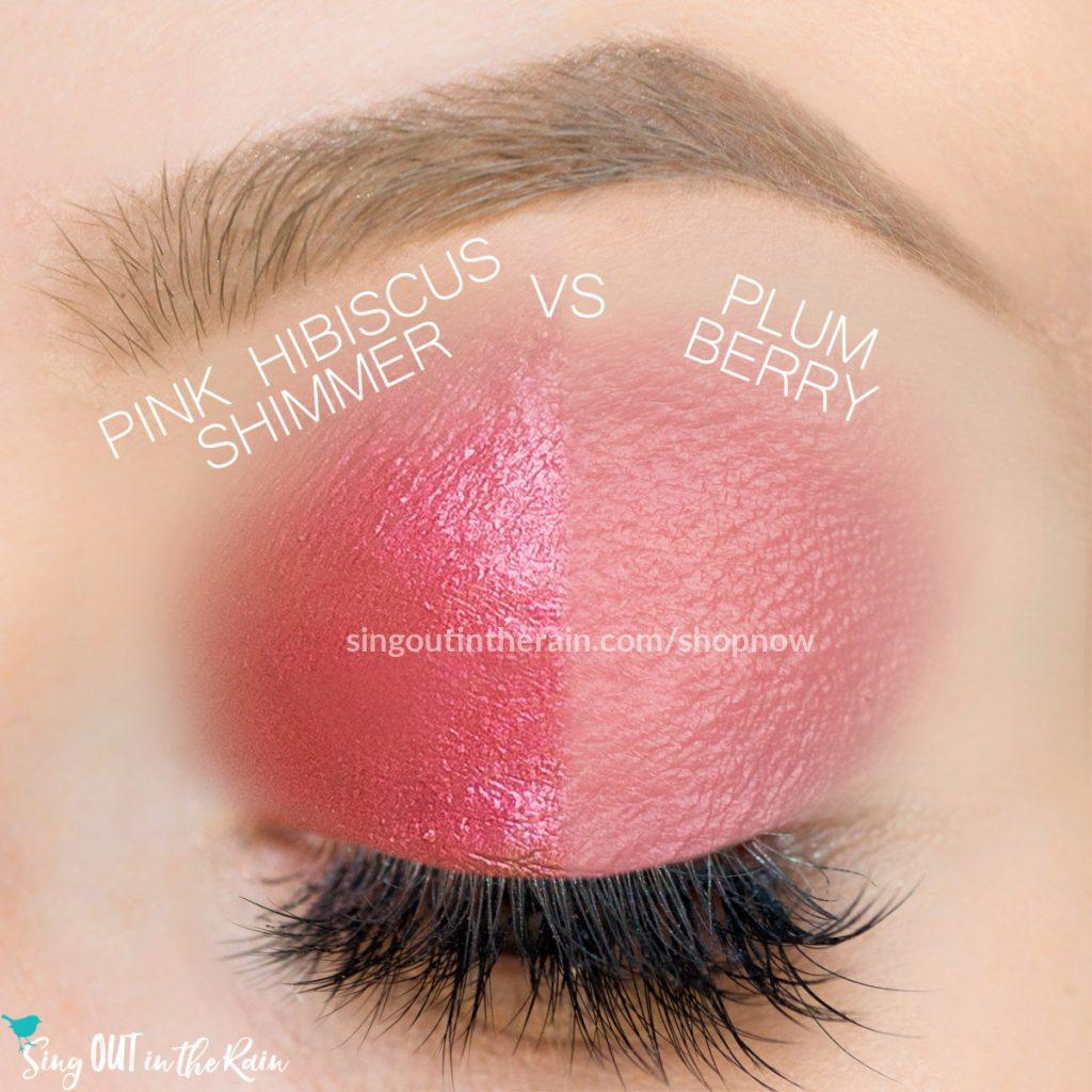 Pink Hibiscus Shimmer SHadowsense, Plum Berry ShadowSense