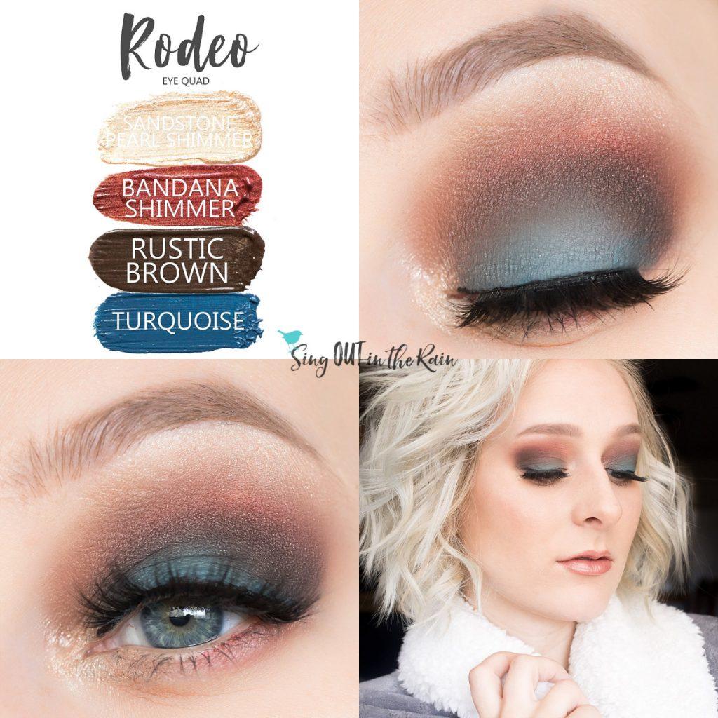 Rodeo Eye Look, Bandana Shimmer ShadowSense, Rustic Brown ShadowSense, Turquoise ShadowSense, Sandstone Pearl Shimmer ShadowSense