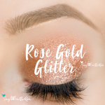 rose gold glitter shadowsense