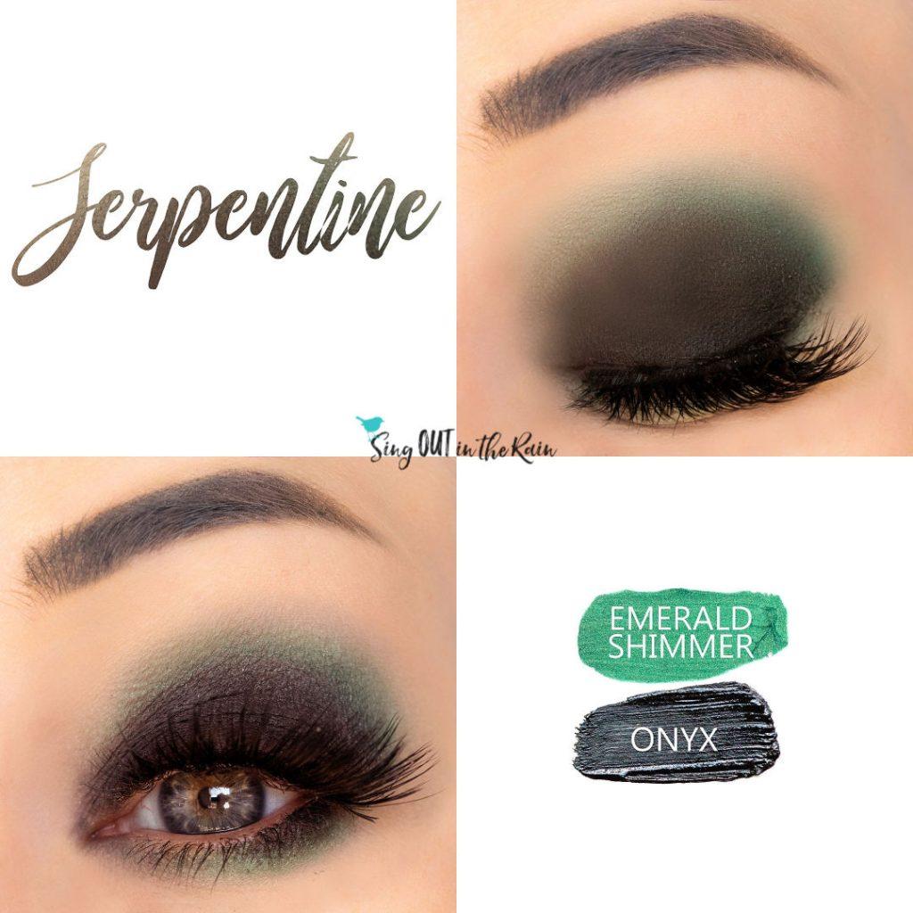 Serpentine Eye Duo, Emerald Shimmer Shadowsense, Onyx Shadowsense