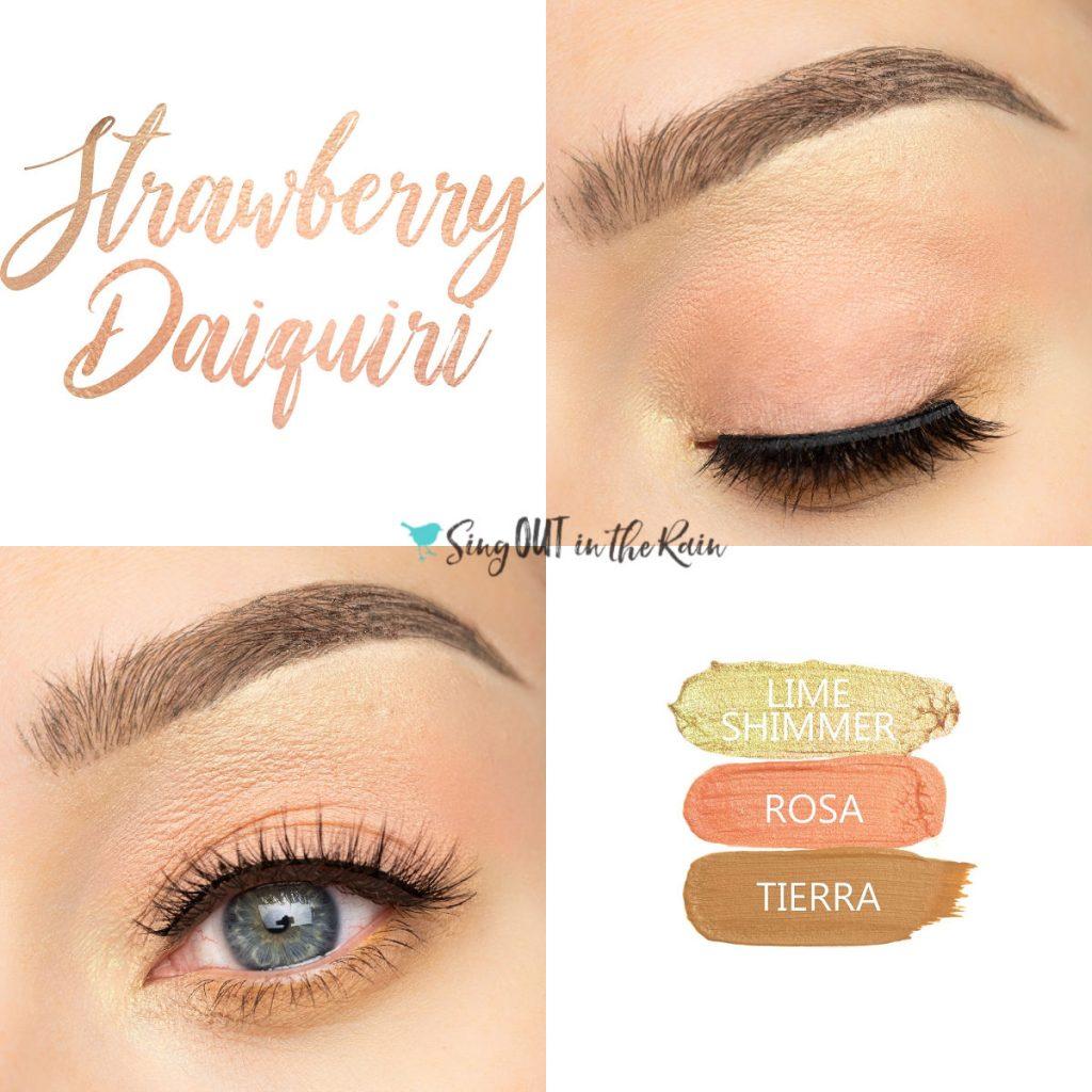 Strawberry Daiquiri Eye Trio, Lime SHimmer ShadowSense, Rosa ShadowSense, Tierra ShadowSense