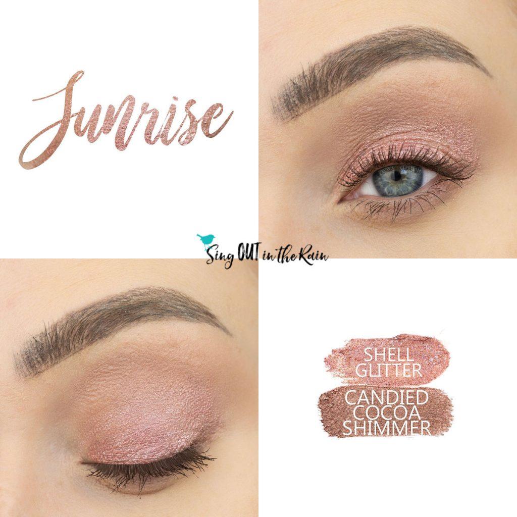 Sunrise Eye Duo, Shell Glitter ShadowSense, Candied Cocoa Shimmer ShadowSense