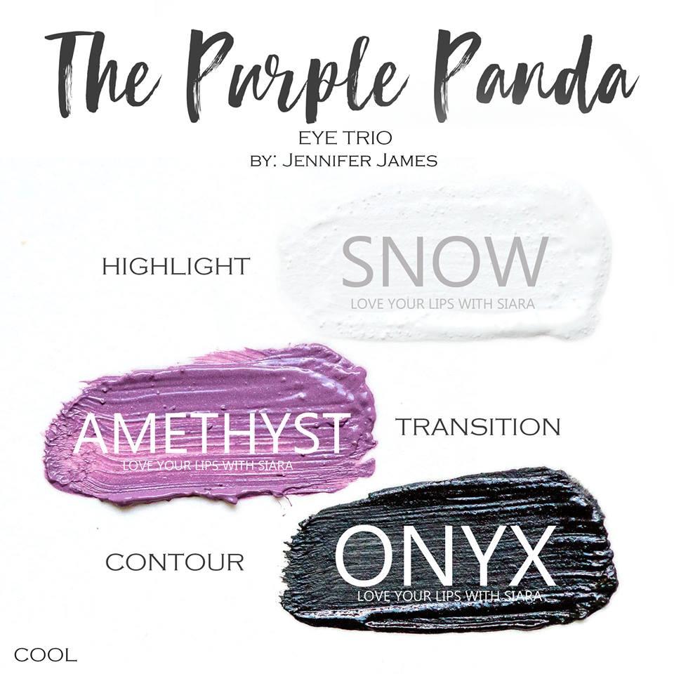 Snow ShadowSense, Amethyst ShadowSense, Onyx ShadowSense, The Purple Panda Eye Trio