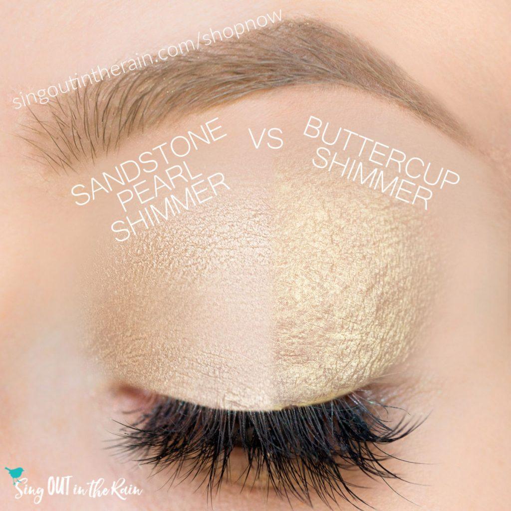 sandstone pearl shimmer shadowsense, buttercup shimmer shadowsense