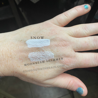 Comparison of Snow & Moonbeam Shimmer ShadowSense