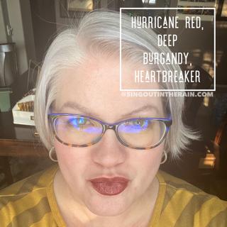 Hurricane Red LipSense, Deep Burgundy LipSense, LipSense Mixology, Heartbreaker LipSense