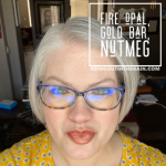 Fire Opal LipSense, LipSense Mixology, Nutmeg LipSense, Gold Bar LipSense