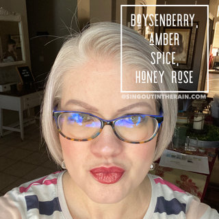 Boysenberry LipSense, Amber Spice Lipsense, Honey Rose LipSense, LipSense Mixology