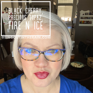 Black Cherry LipSense, LipSense Mixology, Precious Topaz LipSense, Fire N Ice LipSense