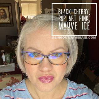 Black Cherry LipSense, Pop Art Pink LipSense, Mauve Ice LipSense