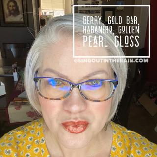 Berry LipSense, LipSense Mixology, Gold Bar LipSense, Habanero LipSense, Golden Pearl Gloss