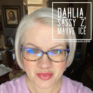 Sassy Z LipSense, Dahlia LipSense, Mauve Ice LipSense, LipSense Mixology