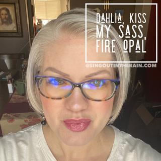 Dahlia LipSense, LipSense Mixology, Kiss My Sass LipSense, Fire Opal LipSense