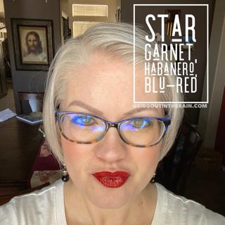 Star Garnet LipSense, LipSense Mixology, Habanero LipSense, Blu Red LipSense