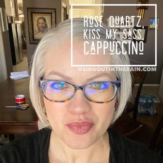 Rose Quartz LipSense, LipSense Mixology, Kiss My Sass LipSense, Cappuccino LipSense