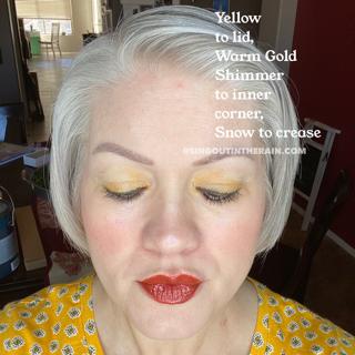 Yellow ShadowSense, Warm Gold Shimmer ShadowSense, Snow ShadowSense